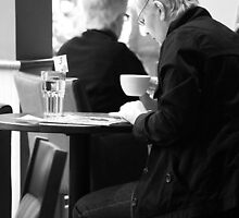 A Coffee and a Read by SquarePeg