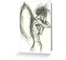 Expressive Figure side view Greeting Card