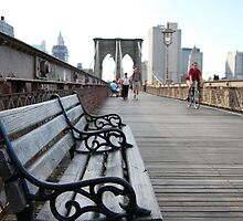 Brooklyn Bridge bench by dannytheniceguy