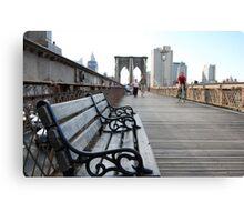 Brooklyn Bridge bench Canvas Print