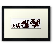 Pokemon Charmander evolution Charizard Framed Print