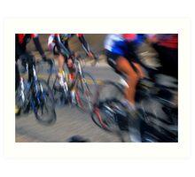 Cyclists - Redlands, California Art Print