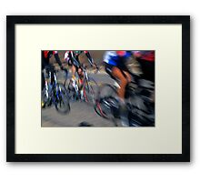 Cyclists - Redlands, California Framed Print