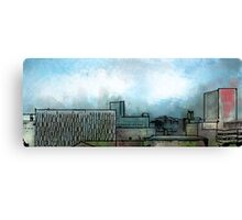 Brush Stroke City Landscape Canvas Print