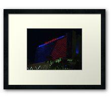Stardust Las Vegas Vector Graphic #10 Framed Print