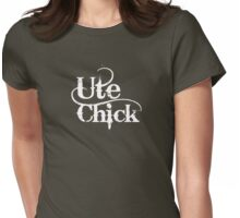 'UTE CHICK' on a femme fitted t Womens Fitted T-Shirt