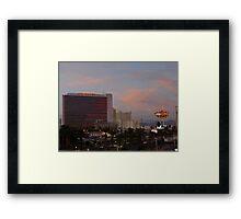 Stardust Las Vegas Vector Graphic #13 Framed Print