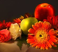 Fruits and Flower Arrangement by Charuhas  Images