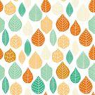 Colorful Stayed Fall Leafs Pattern by artonwear