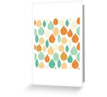 Colorful Stayed Fall Leafs Pattern Greeting Card