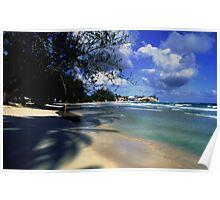 Landscape Barbados Beach Scene Poster