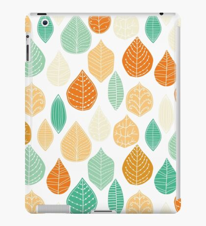 Colorful Stayed Fall Leafs Pattern iPad Case/Skin