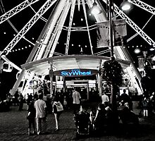 Skywheel at night by Gary Paakkonen