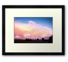 Sunset at Parkes Framed Print