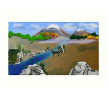 Springtime in the Mountain Glade Art Print