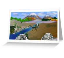 Springtime in the Mountain Glade Greeting Card
