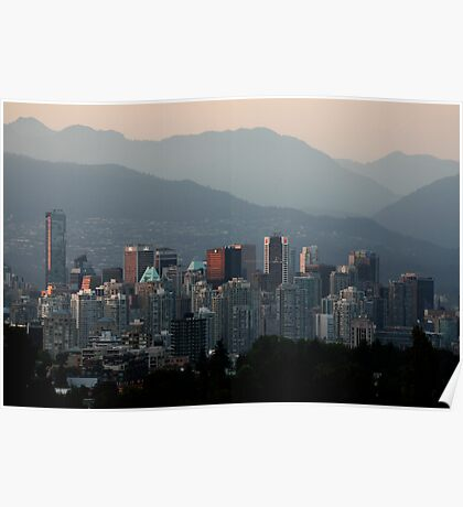 A Smoky Vancouver Evening Poster