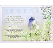 Serenity Prayer Photographic Print
