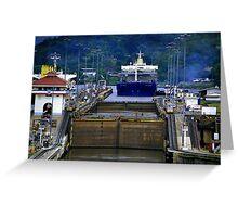 Landscape Panama Canal Greeting Card