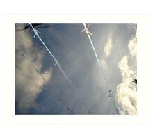 Under the wire Art Print