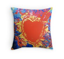 Meteor Heart Throw Pillow
