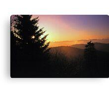 SUNRISE,CLINGMANS DOME Canvas Print