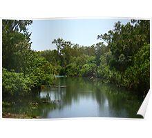 Peacefull River Scene Darwin Poster