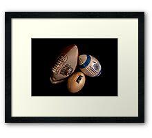American Footballs Framed Print