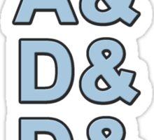DADDY with Ampersands Sticker