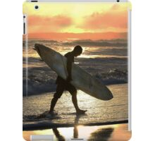 Kauai Surfer Heading Home at Sunset iPad Case/Skin