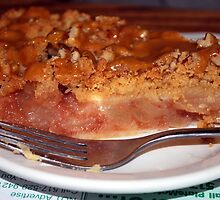 Napolian Cafe Apple Rhubarb Caramel Crisp Pie by Michelle BarlondSmith