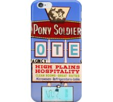Pony Soldier Motel Sign, Route 66 iPhone Case/Skin