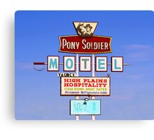 Pony Soldier Motel Sign, Route 66 Canvas Print