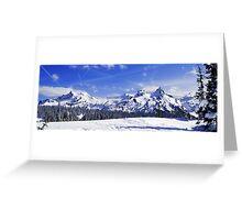 Beautiful Tatoosh Mountain Range Greeting Card