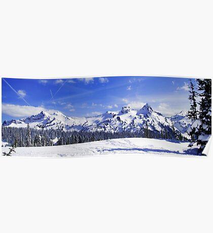 Beautiful Tatoosh Mountain Range Poster