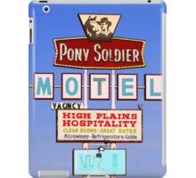 Pony Soldier Motel Sign, Route 66 iPad Case/Skin