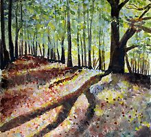 Poringland Wood Norfolk - Watercolour Challenge by Beth A