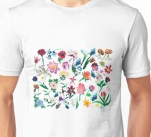 Assorted Colorful Flowers Pattern Unisex T-Shirt