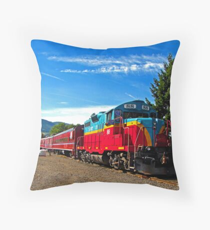 Mt. Hood Railroad Historic Train Tours Throw Pillow