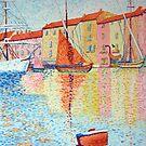 Red Buoy, Study of Paul Signac. by Beth A