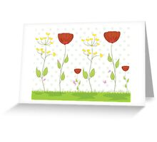 Cute Floral Illustration Greeting Card
