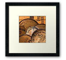 Bourbon Barrels Framed Print