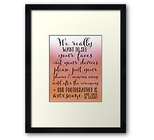Wedding Photography 6 - Pink and Orange Framed Print