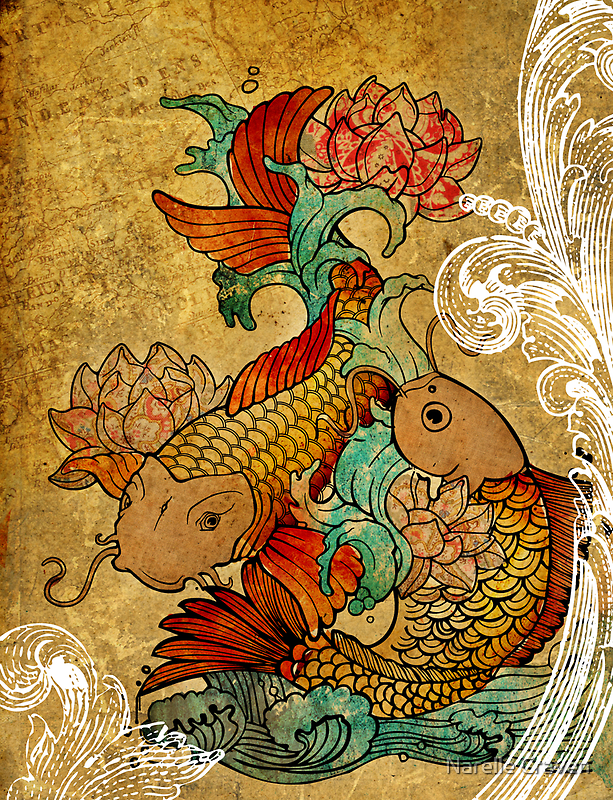 Koi (version2) by Narelle Craven