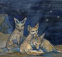 Fennecs by Jeannine Fortin