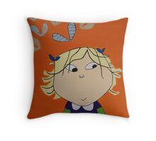 Lola with Butterfly Kisses Throw Pillow
