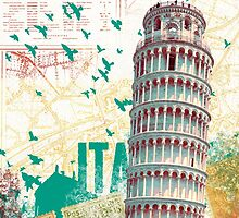 Leaning Tower of Pisa by kimballgray
