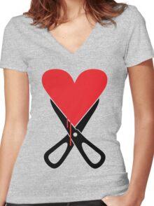 Heartbreaker... Women's Fitted V-Neck T-Shirt