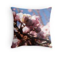 Budding Blossoms! Throw Pillow