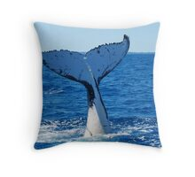 Plunging into the Pacific Throw Pillow